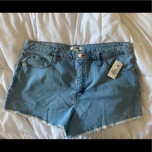 Plus Size Jean Booty Shorts